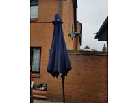 Garden umbrella with stand