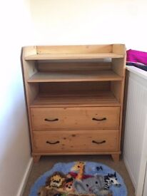 Wooden baby changing unit