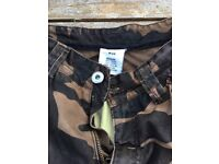 RST camo motorcycle trousers
