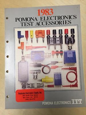 1983 Itt Pomona Electronics Catalog Test Equipment Accessories Probes Cords