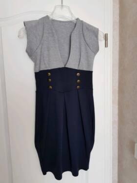 46f263039a28a Kleid blau grau festerer Stoff Gr. 36 S in Brandenburg - Neuenhagen ...