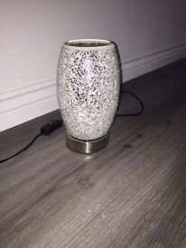 Silver mosaic lamp and matching shade