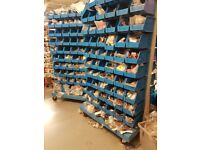 2x Shop Wheeled Stand Storage Boxes Picking Bin Workshop Box Heavy Duty Component