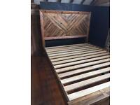 Brand new King size bed frame- reclaimed wood
