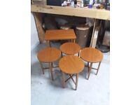 Antique/Retro 70s restored unusual nest of tables.