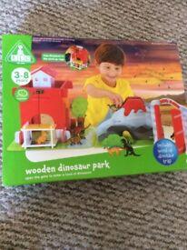 Bnib elc large wooden dinosaur park