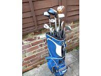 Skymax golf clubs and Mizuno bag for sale