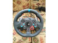 Logitech G29 Driving Force Racing Wheel for PS4 / PC + Logitech Driving Force Shifter