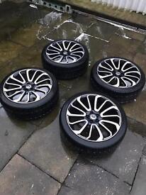 Landrover Range Rover sport 22inch turbine alloys x4 non genuine
