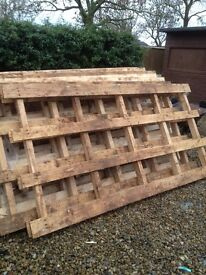 LARGE WOODEN PALLETS 8ft x 4ft ALSO VARIOUSE SIZE SMALLER PALLETS