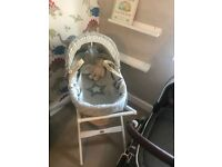 Mamas and papas Moses basket and deluxe stand