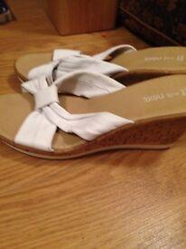 White sandals (Next)