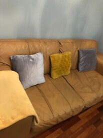 Preloved leather sofas x 2 need quick sale fair condition