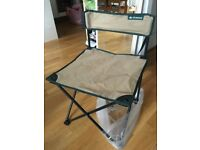 Folding camping chair + Air mattress + sleeping bag