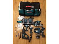 Brand new Makita LXT 18v lithium 6 Piece combo power tool set.