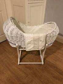 Mothercare apples and pears Moses basket