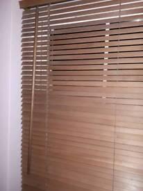 Hardwood window blinds
