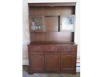 Dark Wood Welsh Dresser/Cupboard