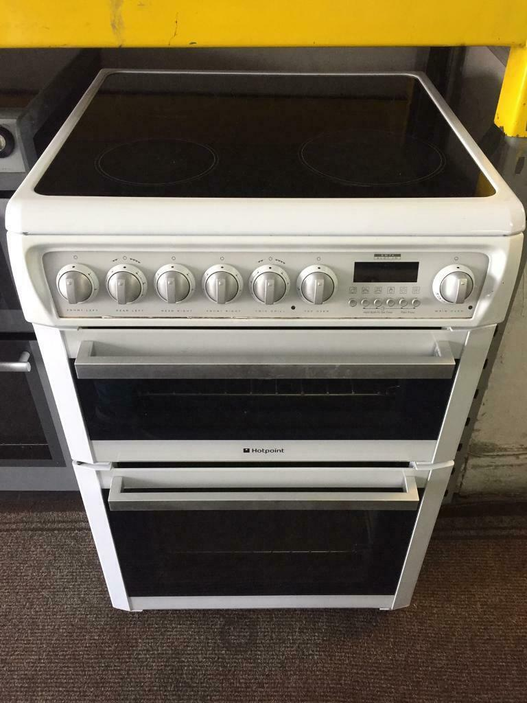 Hotpoint White Good Looking 60cm Electric Cooker With Oven Grill
