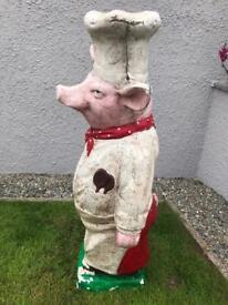 Antique Fibreglass Pig