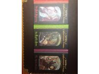 A Series Of Unfortunate Events By Lemony Snicket books 1-3 excellent condition