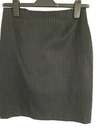 Pin striped, grey skirt, size 12