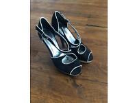 New Look Open Toe Black Heels