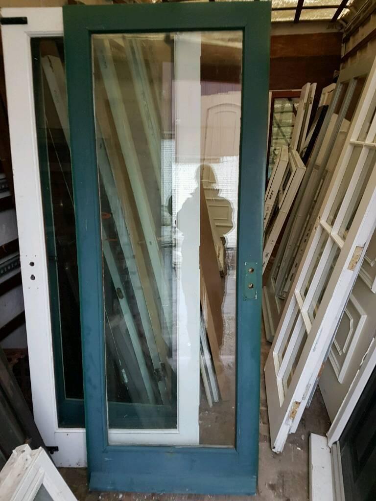 Reclaimed fully glazed double glazed external doors 410 for Reclaimed upvc doors