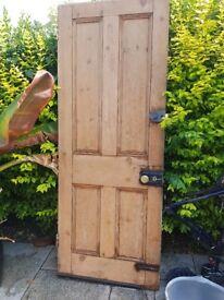 """Victorian 4 panel pine exterior door 77"""" x 30"""""""