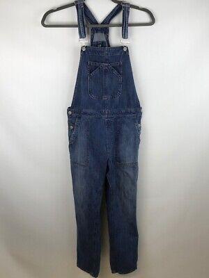 Vintage Overalls & Jumpsuits Gap Denim Womens Cropped Overalls Blue Pockets Buttons Medium Wash Mid Rise M $34.99 AT vintagedancer.com