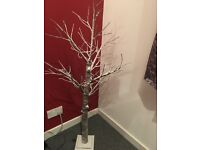 New White Tree with Decorations