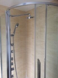 Shower and enclosure