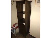 Dark Walnut book shelf with two draws and three shelves