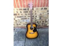 full size Westfield wf400 Tosb acoustic guitar with carry case