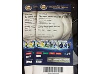ICC Cricket championship cup 2 tickets 2nd semi final