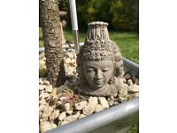 Garden Buddha ornament 3 side heads