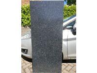 2 pieces kitchen worktop, black granite effect