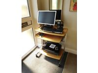 Bargain Bundle of Epson Printer Dell Monitor speakers keyboard, Logitech Webcam mouse work station