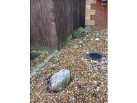 Free - 4 large rockery stones Totton