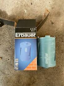 107mm x 150mm Ebauer Core bit with arbour and guide drill
