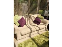 Cream Sofa Bed 79 inches wide 34 inches deep