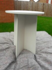 White melamine side tables