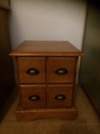 Pine set of two drawers bedside cabinet, merchant style