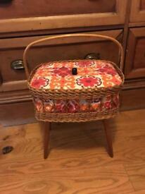 Vintage sewing box basket