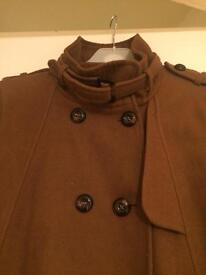 Size 10 brown coat - swing style - great for maternity wear too!