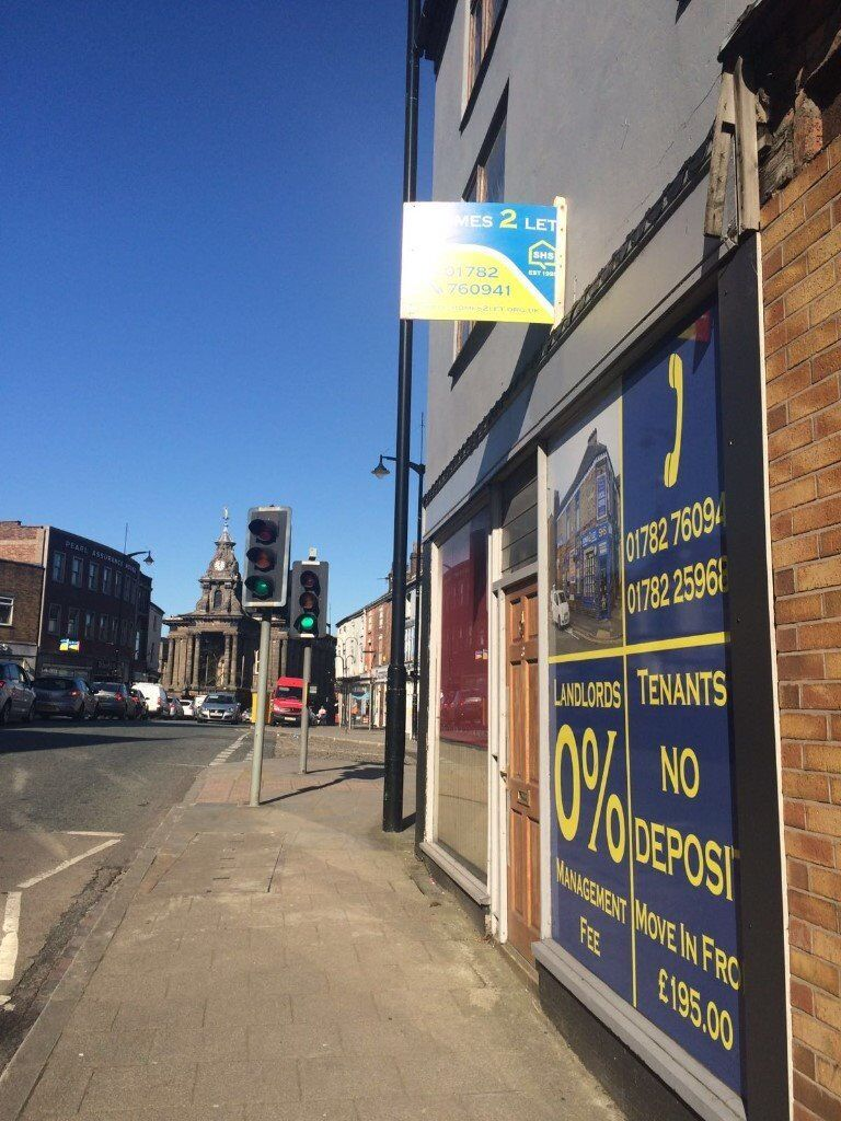 **LET BY**2 BEDROOM APARTMENT-NEWCASTLE STREET-BURSELM-LOW RENT-DSS ACCEPTED-NO DEPOSIT