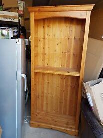 Pine Tall Bookshelf - Adjustable Shelves