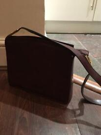 Italian Firenze Brown Leather Handbag
