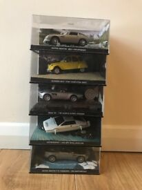 James Bond die cast model cars x 5