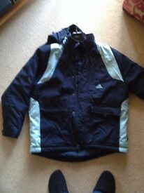 "Adidas Mens Coat As New Navy/Blue Size 42""/44"""